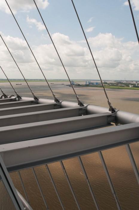 Hoch oben auf dem Atlantic-Hotel in Bremerhaven befindet sich eine Aussichtsplattform. n über 70m Höhe über dem Meeresspiegel bietet sich eine fantastische Aussicht über Bremerhaven.