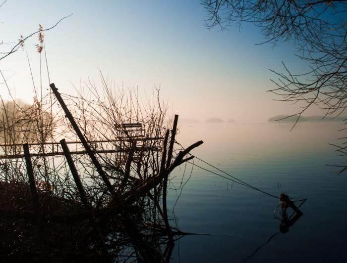 Das Licht malt den Plöner See in wunderbaren Farben an.